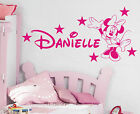 Minnie Mouse Personalised girls bedroom wall sticker kit, loads of colours