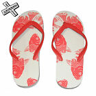 SHORESIDE KOI CARP SANDALS FLIP FLOPS CORAL JAPANESE TATTOO FISH BEACH SHOES NEW