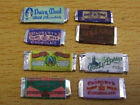 8x miniature bars of chocolate old VICTORIAN 1/12th dolls house shop (J10)
