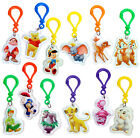 "NEW Walt Disney 2"" Backpack Clips Key Chains Plastic Movie Characters Charms"