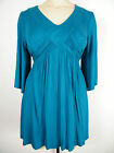 STUNNING TURQUOISE TIE BACK TOP, BNWT, SIZE 16 18 20 22 24 26 28 30 32