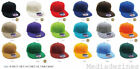 BRAND NEW ETHOS PLAIN FITTED FLAT PEAK RETRO BASEBALL HATS CAPS *18 COLOURS