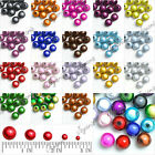 Wholesale Brand New Round Assorted Acrylic Beads 18 Colors F necklace Free Ship