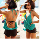 Top Sexy Women Monokini swimsuit Green color US Size *M L XL*