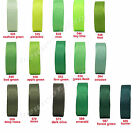 "10y 25y 50y 22mm 7/8"" Green Shades Premium Grosgrain Ribbon All Occasions Eco"