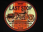 VINTAGE LOOK LAST STOP MOTORCYCLE REPAIR BIKER LONG SLEEVE T SHIRT M TO 4X