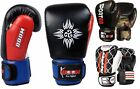 BooM Kids Junior Leather Boxing Punching Bag Gloves MMA Training Sparring Mitts