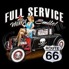 FULL SERVICE DRIVE IN RAT ROD HOT ROD ROUTE 66 SWEAT SHIRT BLACK L TO 4X