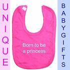 Personalised Baby Bib embroidered christening birth dribble newborn new Gift D8