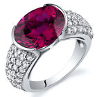 Opulent Sophistication 6.00 cts Ruby Ring Sterling Silver Size 5 to 9