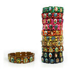 NEW Saints Catholic Christian Jesus Wooden Wood Bracelets Bangle All Colours