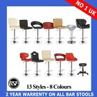 1 New Leather ABS Kitchen Breakfast Bar Stools Barstools Chrome Swivel Gas Lift