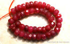 """Ruby 4mm-4.6mm Faceted Rondelle Precious Beads 5"""" long Str (Select-A-Size)"""