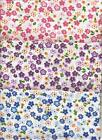 Small Floral Print Polycotton Fabric/Material - 3 variations