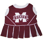 Mississippi State Bulldogs NCAA Licensed Pet Dog Cheerleader Dress Outfit