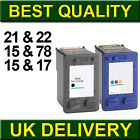 Non-OEM Remanufactured Ink Cartridge For HP 21 22 15 78 17 Printer