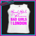 BAD GIRLS GO TO LONDON  HEN PARTY HOLIDAY VEST TOP