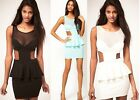ASOS Oh My Love Jersey Peplum Dress With Mesh Detail  SIZE S M BNWT RRP £35.00