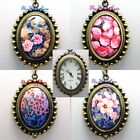 Retro Boho Vintage Deco Arty Ladies Girls Brass Steampunk Pendant Necklace Watch image