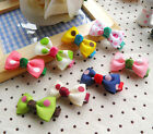 "2* Boutique Baby/Girl Hair Clips with Giftbag 1.8""/4cm Alligator Clips Polka Dot"
