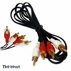 Twin RCA Male Phono Plug to 2 x RCA Audio 1 1.2 1.5 1.8 2 2.5 3 5 M Cable Lead