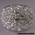 New 18K White Gold GP Full of Swarovski Crystal Cocktail Ring IR015A