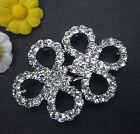 /pr Chinese Frog Knot Clear White Rhinestone Clasps Buckle Button Hook BC4