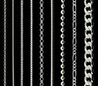 Wholesale 925 Sterling Silver Curb Trace Belcher Bead Box Snake Chain Necklace