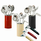 5 Pc Kitchen Utensil Tool Set Cooking Kit Turner Spoons Masher Peeler Ladle Gift