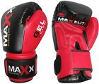 Maxx Integrated Aero Gel Padded Leather Boxing Gloves,Punch Bag MMA,Sparring R2