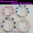 Girls Personalised Bracelet ~ Add Any Name ~ 8 Gorgeous Colours
