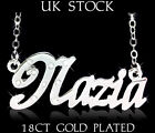 Personalized Necklace NAZIA 18ct/18k Gold Plated Arabic Gifts Name Jewelry Chain