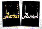 Name Necklaces 18ct/ Gold Plated Arabic Personalised Custom Jewellery Gifts Eid