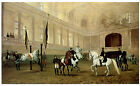Morning Exercise in the Winter Riding School, Julius von Blaas , Great Horse Art
