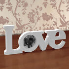 LOVE Letters Freestanding Photo Frame White Wooden Wood Picture Photograph 3 x 3