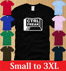 CTRL FREAK LADIES T-SHIRT FUNNY S M L XL control nerdy geeky humor offensive tee