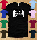 CTRL FREAK LADIES T-SHIRT SMALL funny control nerdy geeky humor offensive tee S