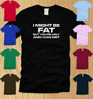 I MIGHT BE FAT BUT YOURE UGLY MENS T-SHIRT 3XL funny fitness crossfit tee XXXL