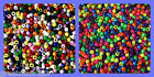 APPROX 150 BEADS - 9MM OPAQUE  PONY BEADS NEON OR  MIXED COLOURS ARTS CRAFTS