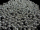 Silver Plated Round Spacer Beads Seamless looking 100 PCS. 2.5, 3, 4, 5, 6, 8mm