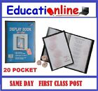 A4 - 20 POCKET DISPLAY BOOKS (40 PAGES TO VIEW)- SINGLE BOOKS TO BULK PACKS