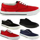 Ladies Womens Girls Lace Up Canvas Trainers Sneakers Pumps Plimsolls Flat Shoes