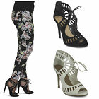 womens new ankle strap ladies stiletto heel pointed toe party work shoes size
