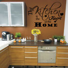 KITCHEN HEART OF THE HOME quote wall decal large vinyl wall stickers