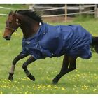 "Mark Todd Lightweight Combo Horse Turnout Rug Navy And Aqua Sizes 5'6"" To 7'3"""