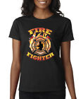 Firefighter Emblem Fire Rescue Heroes Ladies Tee Shirt