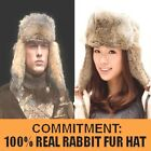 New Men's / Women's (100% Real Rabbit Fur) Winter Warm Hat/Russian Bomber Cap