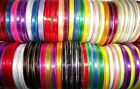 10 metre Reel of 6mm wide Gold Metallic Edged Satin Ribbon Choice of Colours
