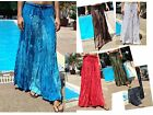 Long Maxi Skirt-Gypsy-Boho-Summer-Lightweight- Fade Tones