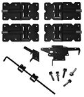 Vinyl Fence Double Drive Gate Kit-Hinges, Latch, Drop Rod...